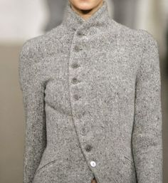asymmetrical buttoned front jacket