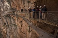 'El Caminito del Rey,' or 'The King's Path,' a narrow walkway on the steep walls of a gorge in southern Spain, which was closed after several hikers fell and died, is set to reopen to the public on March Malaga, Travel Articles, Andalucia, Travel Information, Holiday Photos, Places To Go, Around The Worlds, Photo And Video, Image