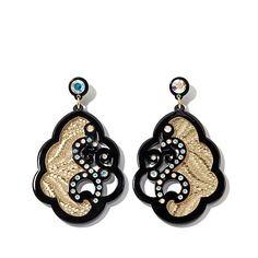 Rara Avis by Iris Apfel Iridescent Crystal and Foil Drop Earrings | HSN