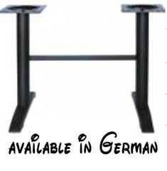 """B0782CPK1X : Tischgestell 72 cm Tischfuß Edelstahl schwarzes Gestell """"Braunschweig"""" mit verstellbaren Bodengleitern. #Küche & Haushalt #KITCHEN"""