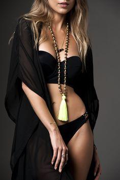 Bohemian Boho Necklace Long Tassel Necklace por SwedishShop