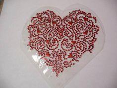 Bling-Valentine-Hearts-Heart-Iron-On-Hot-Fix-Rhinestone-Rhinestud-Transfer-Motif