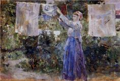 Woman Hanging out the Wash - Berthe Morisot, 1881