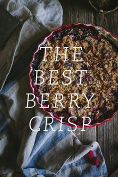 BERRY CRISP RECIPE