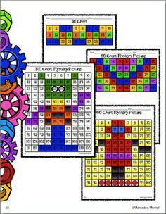 120, 100, 50, AND 30 CHARTS, ACTIVITIES FIRST GRADE PRINTABLES - TeachersPayTeachers.com