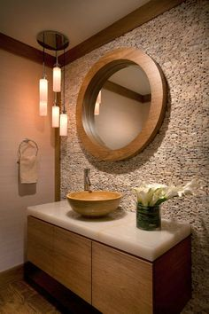 crunchylipstick: 63 Sensational bathrooms with natural stone walls (via onekindesign.com)