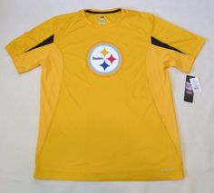 PITTSBURGH STEELERS NFL MAJESTIC Yellow COOL BASE SHIRT Men LARGE #Majestic #PittsburghSteelers