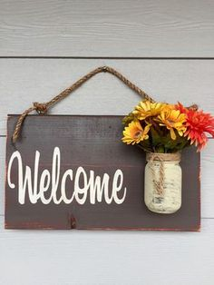 Rustic country home decor front porch welcome sign, spring decor for front porch, outdoor signs welcome, customizable gifts home wood signs Rustic Outdoor Brown Welcome Outdoor Welcome Sign by RedRoanSigns Outdoor Welcome Sign, Welcome Signs Front Door, Outdoor Signs, Rustic Outdoor, Front Door Decor, Front Doors, Rustic Doors, Rustic Wood Signs, Wooden Signs
