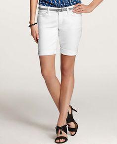 Petite Denim Walking Shorts