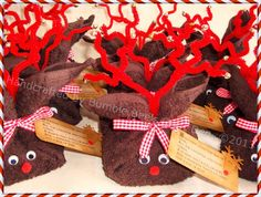 Bumble Bee's Craft Den: Flannel Reindeers Christmas 2013