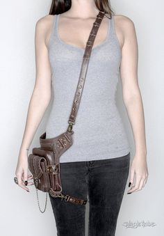 Blaster 3.0 Brown Leather Hip and Holster Bag от JungleTribe