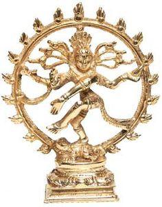 """Brass Shiva Dancing statue 6"""""""