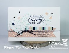 Yvonne is Stampin' & Scrapping (Yvonne van Bruggen): Stampin' Up! Little Twinkle Scrapbooking, Scrapbook Cards, Kids Cards, Baby Cards, Emotions Cards, Birthday Thank You Cards, Stampin Up Catalog, Stamping Up Cards, Twinkle Twinkle Little Star