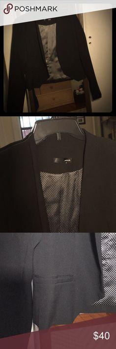 Aqua collarless crop black blazer Aqua collarless crop black blazer Aqua Jackets & Coats Blazers