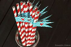 I now offer free printable drink flags with the purchase of paper straws in my shop. The drink flags come in a pdf file that is e-mailed to. Free Printable Art, Free Printables, Baby Birthday, Birthday Parties, Diy Party Planner, Red Party, Paper Straws, Drinks, Etsy