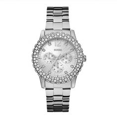 A collection of Iconic signature combinations inspired by the GUESS lifestyle. Trendy fashion-forward designs from GUESS Watches offer dynamic styling. Swarovski, Gold Gold, Watch Brands, Crystal Jewelry, Stone Jewelry, Women's Accessories, Bracelet Watch, Jewelry Watches, Gold Watches