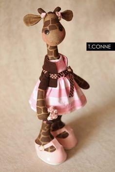 She's cute!  Where do you get giraffe fabric?