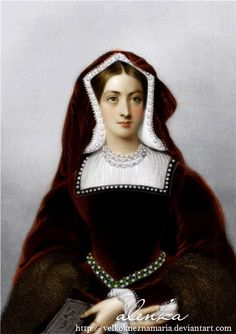 Catherine of Aragon. Originally black and white image coloured by me. (I´m not the author of the drawing) Catherine of Aragon Catherine Parr, Catherine Of Aragon, Anne Of Cleves, Anne Boleyn, Tudor History, British History, Isabel I, Tudor Dress, Wives Of Henry Viii