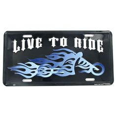 Live to Ride Auto Plate