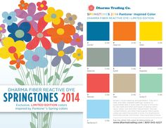 Limited Edition Fiber Reactive SpringTones For 2014 are here! Inspired by the Pantone® Spring 2014 Colors