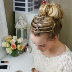 braided ballerina bun - love this combo!