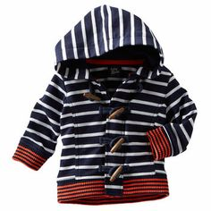 Osh Kosh Hooded Striped Sweater for little man, too cute!