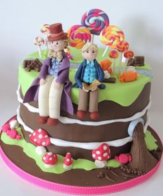 Charlie & the chocolate factory  - Cake by Shereen