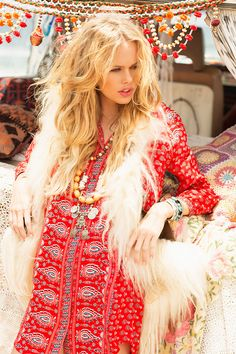 Gypsiana Shirt Dress - Red Bandana • Spell & The Gypsy Collective Hippie Style, Estilo Hippie Chic, Hippie Bohemian, Gypsy Style, Boho Gypsy, Bohemian Style, Bohemian Outfit, Hippie Masa, Bohemian Fall