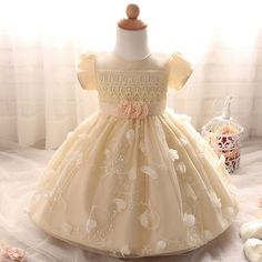 Lace-Detailed Floral A-Line Princess Dress Yellow Party Dress for Baby Girls, 46% discount @ PatPat Mom Baby Shopping App