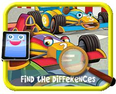 Toon Race Cars - Find the Differences Game for Kids Find The Differences Games, Different, Games For Kids, Kids Playing, Race Cars, Racing, Activities, Games For Children, Drag Race Cars