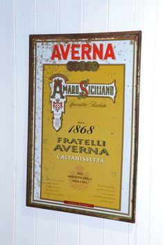 targa Averna Dal 1868 Licenza Nr 1