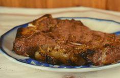 Grilled Pork Shoulder Steak Recipe - These Old Cookbooks Steak Marinade Recipes, Pork Recipes, Grilled Pork Shoulder, Italian Dressing Marinade, Grilled Pork Steaks, Fried Pork, 3 Ingredients, I Foods, Favorite Recipes