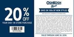 20% Off Your $40+ In-Store Purchase