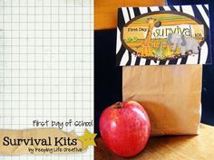 First day of school survival kits.