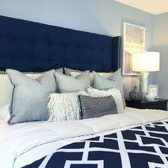 Bedroom Featuring Custom Headboard
