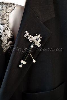 Crystal Carriage Cinderella Wedding Brooch Pin