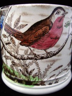 Staffordshire Mug ~ ABC ROBIN ~ 1880 stock n. 6003