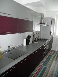 Kuchyňa fialová - BMV Kuchyne Conference Room, Kitchen Cabinets, Table, Furniture, Home Decor, Decoration Home, Room Decor, Cabinets, Tables