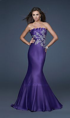 LF-GI-16670 : Elegant Strapless Prom Dress by Gigi