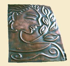 Mixed media art and designs by Elaine Jackson: Copper Embossing