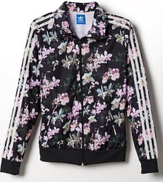 Floral Adidas bomber jacket