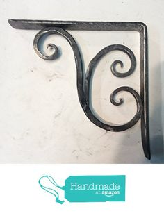 Shelf bracket in wrought iron with two scoll from Forges Pelli Design http://www.amazon.com/dp/B018REJWJK/ref=hnd_sw_r_pi_dp_DrIUwb1EMC3EQ #handmadeatamazon