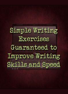 writing exercises to improve creativity
