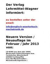 Neu 2013: Nachschlagewerke Technisches Woerterbuch Kfz Mechatronik Deutsch-Englisch