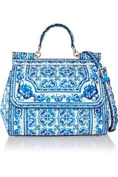 Dolce & Gabbana|Sicily printed leather shoulder bag|NET-A-PORTER.COM