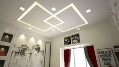 Good morning Friends False ceiling q With creative lighting effect in kids room Drawing Room Ceiling Design, Pvc Ceiling Design, Ceiling Design Living Room, False Ceiling Bedroom, Bedroom False Ceiling Design, Ceiling Decor, Bedroom Pop Design, Home Room Design, Room Interior Design