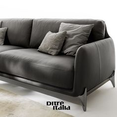 Elliot sofa knows the rule: black is always a good choice! Stile unico ed eleganza innata: Elliot interpreta il colore nero!