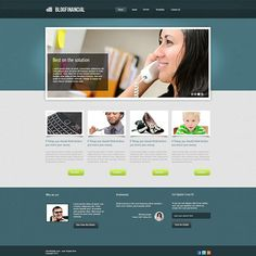 How to Create Simple and Professional Looks Financial Website Layout
