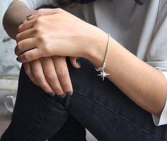 Sterling silver star bracelet Star charm bracelet by SharonTasker