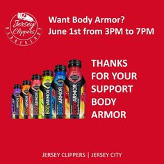 Body Armor MVP Drinks will keep you hydrated during our Barber ShowCase.  June 1st from 3PM to 7PM.  Thanks for your support Body Armor #jerseyclippers #bodyarmor #bodyarmorsuperdrink #bodyarmorsportsdrink #mvpdrink #sportsdrink #jerseycitynj #barbershowcase #jerseycity #bestbarbers #bodyarmor #drinkbodyarmor @showtimetate @jharden13 @andrewluck_colts @miketrout @rsherman25 @arizz_44  @dezbryant @skydigg4 @kporzee